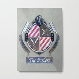 the barbers vintage Metal Print