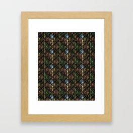 Snake skin, patchwork. Framed Art Print