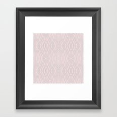 Art Deco Pink and Silver Framed Art Print