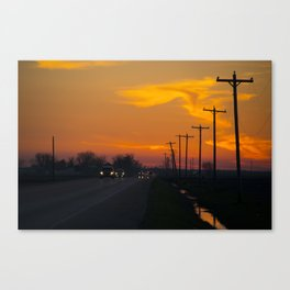 Arkansas sunset  Canvas Print