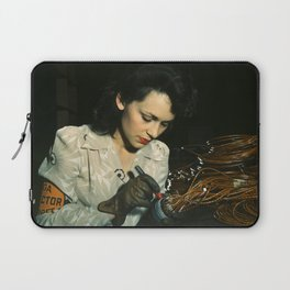 WWII Woman Aircraft Worker Laptop Sleeve