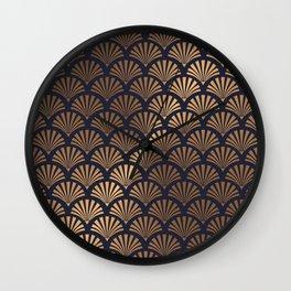 Art Deco Shell Pattern Wall Clock