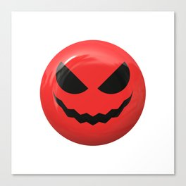 Red face design Canvas Print