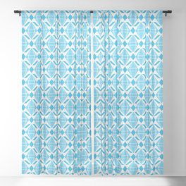 Abstract [BLUE] Emeralds Sheer Curtain