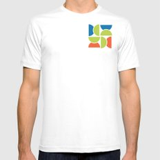 Lime Squeeze Mens Fitted Tee MEDIUM White