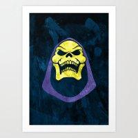 skeletor Art Prints featuring Skeletor by Some_Designs