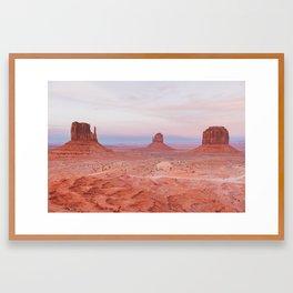 Monument Valley Sunset Framed Art Print