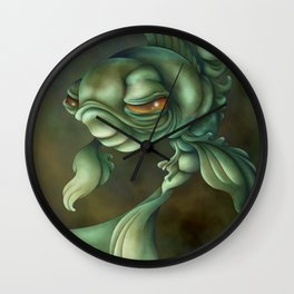 Bad Fish Wall Clock