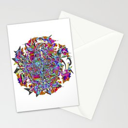 Neon Waffle Monster 12 Stationery Cards