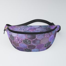Purple geometric hexagonal elegant & luxury pattern Fanny Pack