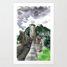 castelgrande within Art Print