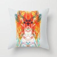dream catcher Throw Pillows featuring Dream Catcher by Renaissance Youth