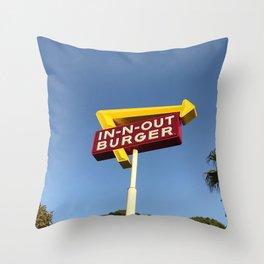 Retro burger Throw Pillow