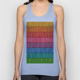Abstract Colorful Decorative 3D Striped Pattern Unisex Tank Top