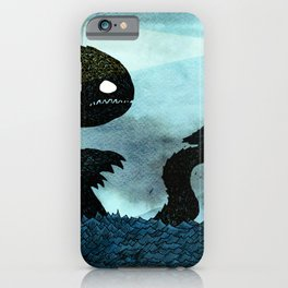 Lighthouse & Sea Monster iPhone Case