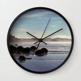 Moeraki Boulders, New Zealand Wall Clock