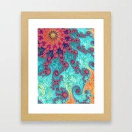 Rainbow Fractal Framed Art Print