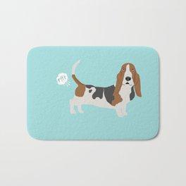 Basset Hound dog breed funny dog fart Bath Mat