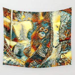 AnimalArt_OrangUtan_20170605_by_JAMColorsSpecial Wall Tapestry