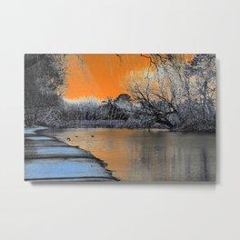 Lake Wendouree Winter Sunset Metal Print