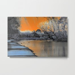 Lake Wendouree Winter Sunset Metal Print