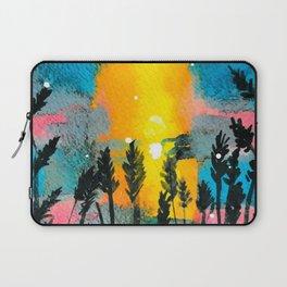 Beach Grass Sunset Laptop Sleeve