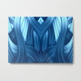 Abstraktion in blau Metal Print