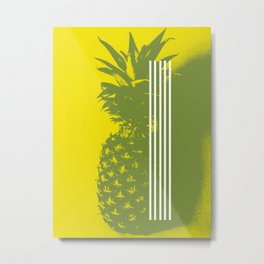 Pineapple #bright #yellow #deco Metal Print