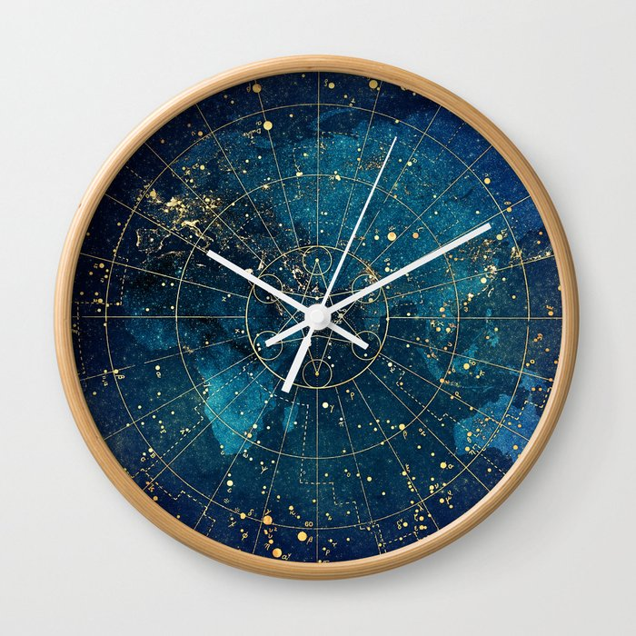 Star Map :: City Lights Wall Clock
