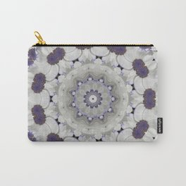 Flowers Purple and white Carry-All Pouch