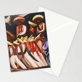 Mexican Revolution Zapatistas — Zapata's followers on the march painting by Jose Clemente Orozco Stationery Cards