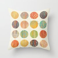 Throw Pillows featuring CELESTIAL BODIES by Daisy Beatrice