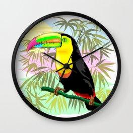 Toucan Wild Bird from Amazon Rainforest Wall Clock