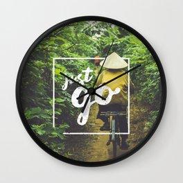Just Go Wall Clock