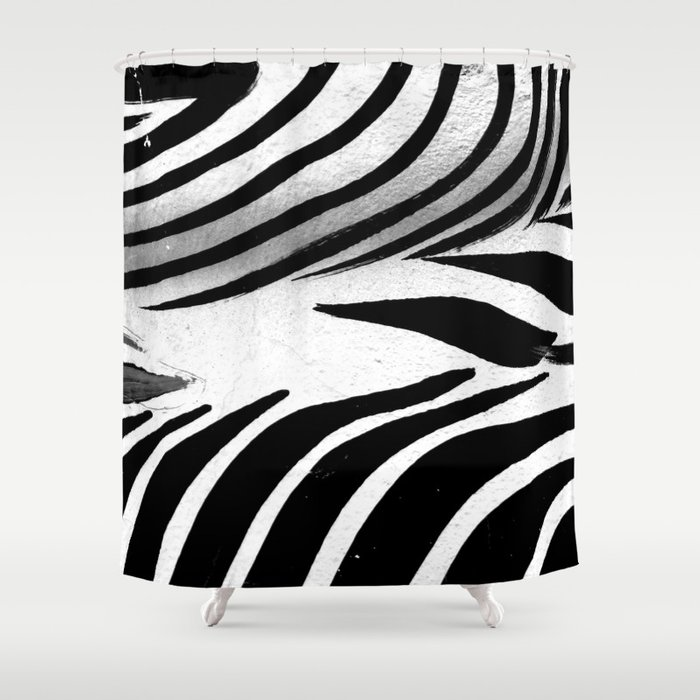 Heart Of Zebra Shower Curtain By Chiccabesso