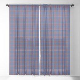 Elliot Tartan Plaid Sheer Curtain