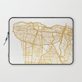 BEIRUT LEBANON CITY STREET MAP ART Laptop Sleeve