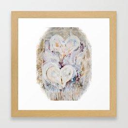 Winter Hearts Framed Art Print