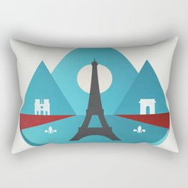 Paris - City of Light Rectangular Pillow