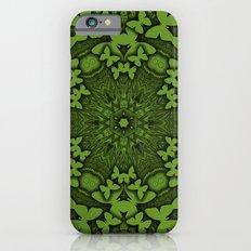 Butterfly kaleidoscope in green iPhone 6s Slim Case