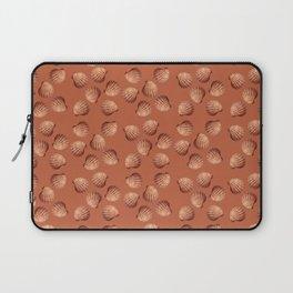 Orange small Clams Illustration pattern Laptop Sleeve