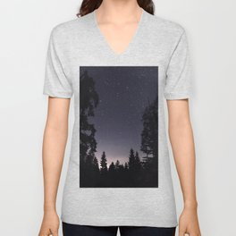 Starry Sunset | Nature and Landscape Photography Unisex V-Neck