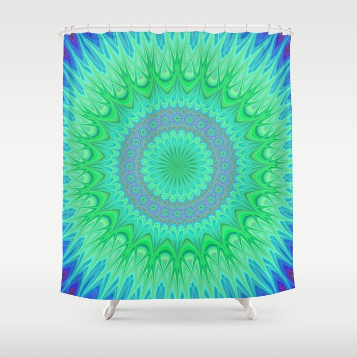 Crystal mandala Shower Curtain