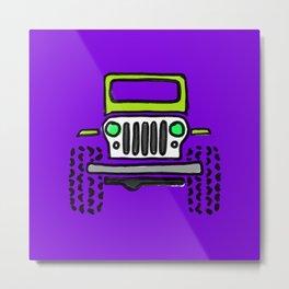 Jeep 'Drawing' PURPLE Metal Print
