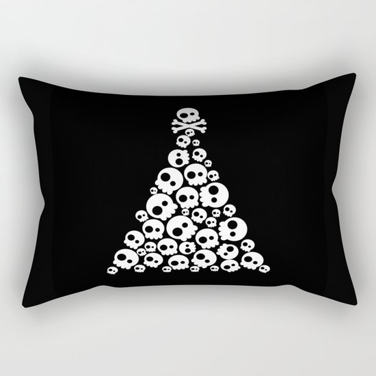 Skulls Christmas Tree Rectangular Pillow