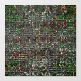 Grunge Wall Of Mould And Green Canvas Print