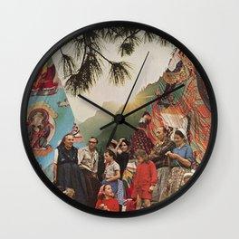 Pythagorean Sunset Wall Clock