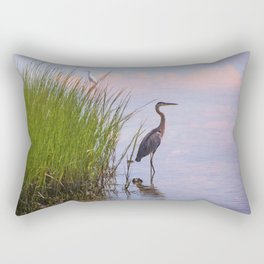 Blue Heron In Assateague Rectangular Pillow