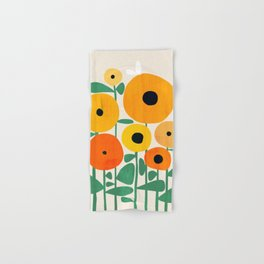 Sunflower and Bee Hand & Bath Towel
