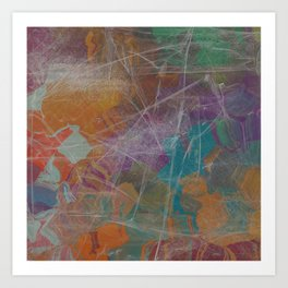 Abstract Subdued Colors 2 Art Print